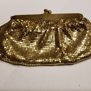 Vintage gold mesh purse 1950s